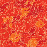 Abstract fire seamless pattern Royalty Free Stock Photo