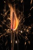 Abstract fire and sparks royalty free stock photos