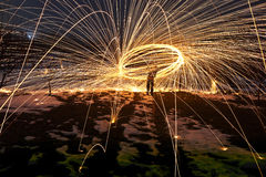 Abstract fire sparks Royalty Free Stock Photos