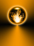 Abstract fire sphere Royalty Free Stock Photos
