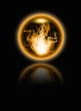 Abstract fire sphere Royalty Free Stock Images