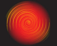 Abstract fire spiral. Illustration of a colorful spiral on a black background Stock Images