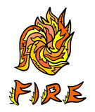 Abstract fire symbol Royalty Free Stock Image