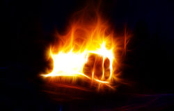 Abstract fire texture. Background texture of flames on black Royalty Free Stock Photography