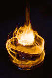 Abstract fire texture. Motion flame. Hot drink Royalty Free Stock Image