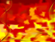 Abstract fire wave. Vector - abstract background fire wave theme Stock Image