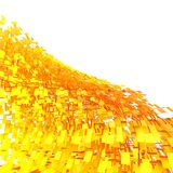 Abstract Fire Wave. 3d render Gold Abstract Fire Wave Royalty Free Stock Photo