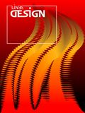 Abstract fire wavy background. Dynamic curves form effect. Desig. Colorful wavy background. Dynamic curves form effect. Design template.  Vector Illustration Royalty Free Stock Images