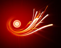 Abstract fire wire. On dark red background Stock Images