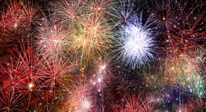 Abstract fire works backgrounds. Royalty Free Stock Image