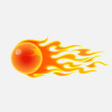 Abstract fireball on white background Stock Photos