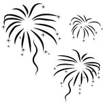 Abstract  firework. Silhouette of abstract black  firework Stock Photo