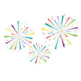 Abstract firework background Royalty Free Stock Photography