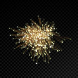 Abstract firework glitter or optical fiber light effect on black background. Abstract optical fiber or firework glitter light effect on black background. Gold Royalty Free Stock Photos