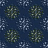 Abstract firework pattern. Vintage color series. Minimal graphics Stock Photography
