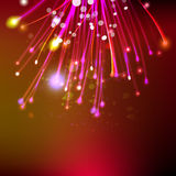 Abstract firework at red space background. Abstract firework at red dark background. Space futuristic technology illustration. Holidays concept. Web banner Royalty Free Stock Photography