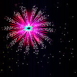 Abstract Firework Rocket Explosion Royalty Free Stock Image