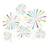 Abstract firework set Royalty Free Stock Image