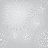 Abstract firework splash dot seamless pattern. Swirl floral petal Stock Image