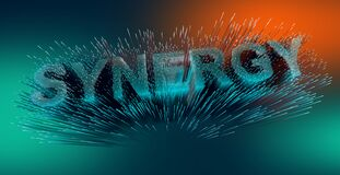 Free Abstract Firework With Synergy Text Stock Photography - 180870432