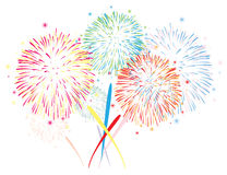 vector abstract fireworks background stock illustration