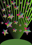 Abstract fireworks background vector illustration