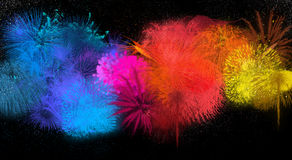 Abstract Fireworks Background Stock Photography