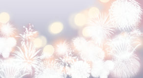Abstract Fireworks Background Stock Photo