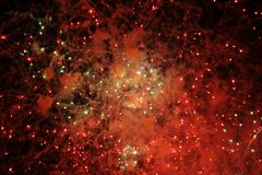 Abstract Fireworks Lights Royalty Free Stock Images
