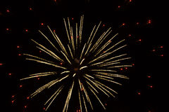 Abstract Fireworks: Tiny Red Lights,Glitter Ball  Royalty Free Stock Images