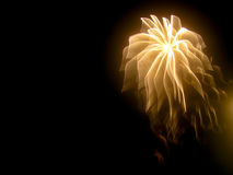 Abstract Fireworks: Unusual Veil Effect in Night Sky Royalty Free Stock Photos