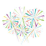 Abstract fireworks wallpaper Stock Image