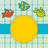 Abstract fish background. Illustration for a design Stock Photos