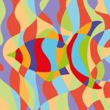 Abstract fish card. Vector illustration Stock Photos