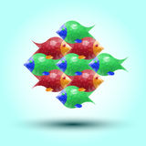 Abstract fish Stock Photo