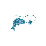 Abstract fish and lure vector design Stock Images