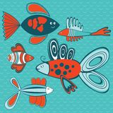 Abstract fish pattern Stock Image