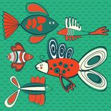 Abstract fish pattern Royalty Free Stock Photos