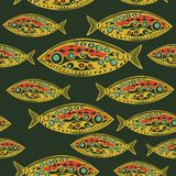 Abstract Fish Pattern. Made as seamless. Abstract Fish Pattern. Made as seamless vector element Royalty Free Stock Images