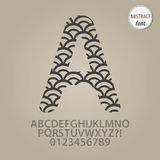 Abstract Fish Scale Alphabet and Digit Vector Stock Photography