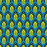 Abstract fish scale blue pattern in oriental style. Stock Image