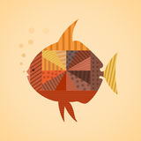 Abstract fish3. Abstract the fish swims. Vector illustration Royalty Free Stock Images
