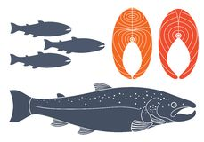 Abstract Fish. Vector illustration EPS Stock Images