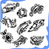 Abstract Fish - vector set. Stock Photography
