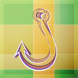 Abstract fishhook. Abstract colored fishhook on background. Vector illustration Royalty Free Stock Images