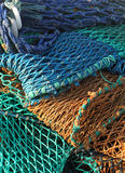 Abstract of fishing nets Stock Photography