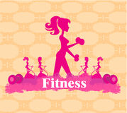 Abstract fitness girl training Stock Photography