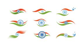 Abstract flag icons for India Stock Image