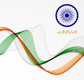 Abstract flag of India Stock Images