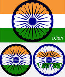Abstract flag of India Royalty Free Stock Photos